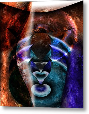 Beyond The Mask Metal Print by Christopher Gaston