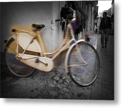 Bike Metal Print by Charles Stuart