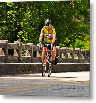 Bike Ride Across Georgia Metal Print by Susan Leggett