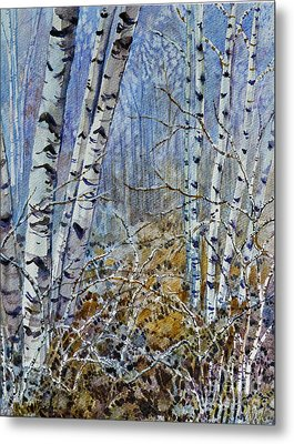 Metal Print featuring the painting Birches by Louise Peardon