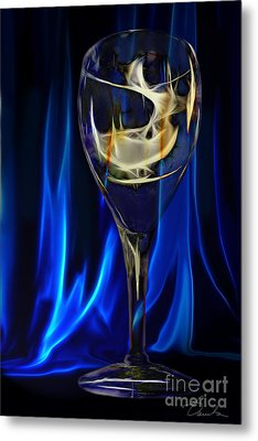Blue Compliments Me  Metal Print by Danuta Bennett