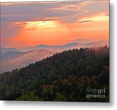 Blue Ridge Sunset Metal Print by Bob and Nancy Kendrick