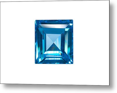 Blue Sapphire Isolated Metal Print