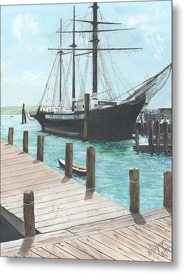 Boat With A History Metal Print by Stuart B Yaeger