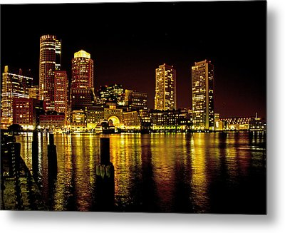 Metal Print featuring the photograph Boston At Night by Gordon Ripley