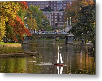 Boston Public Garden Metal Print by Joann Vitali