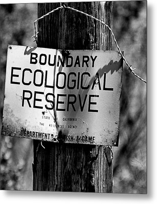 Boundary Metal Print by Bob Wall