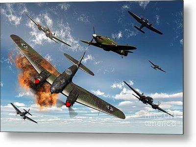 British Hawker Hurricane Aircraft Metal Print by Mark Stevenson