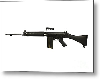 British L1a1 Self-loading Rifle Metal Print by Andrew Chittock