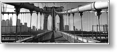 Brooklyn Bridge Metal Print by Peter Aitchison