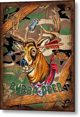 Bubba Deer Metal Print by JQ Licensing