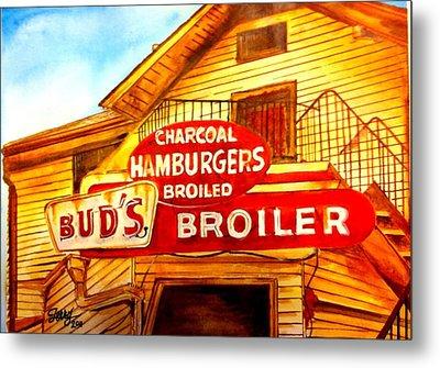 Bud's Broiler Metal Print by Terry J Marks Sr