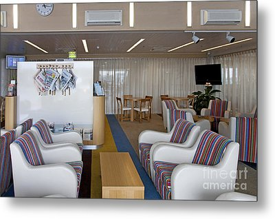 Business Lounge At An Airport Metal Print by Jaak Nilson