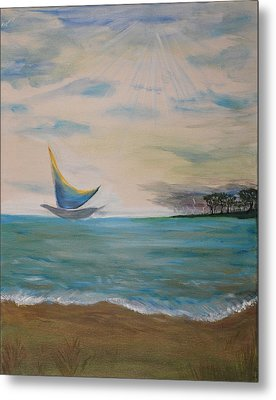 Butterfly Sails Metal Print by Tifanee  Petaja