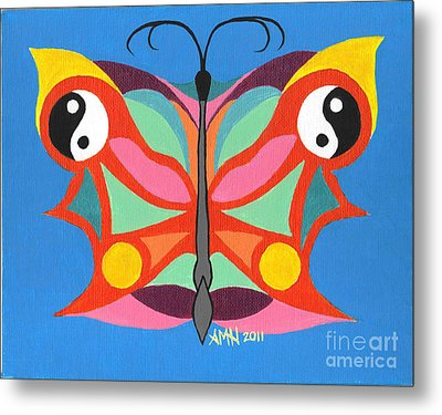 Butterfly Twin2 Metal Print by Angela Q