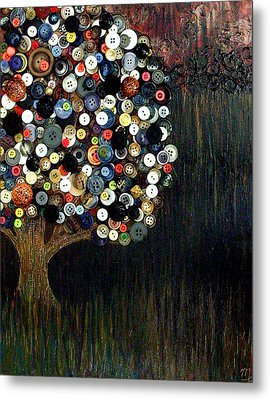 Metal Print featuring the painting Button Tree 0002 by Monica Furlow