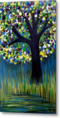 Metal Print featuring the painting Button Tree 0005 by Monica Furlow