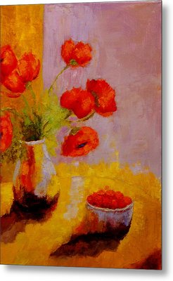 Metal Print featuring the painting By The Light by Marie Hamby