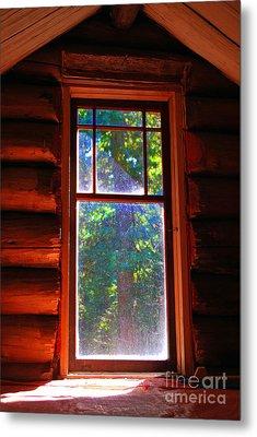 Cabin Window Metal Print by Bill Thomson