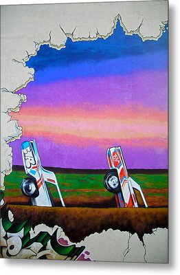 Cadillac Ranch - Montreal Metal Print by Juergen Weiss