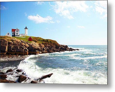 Cape Neddick nubble Lighthouse Metal Print by Thomas Northcut