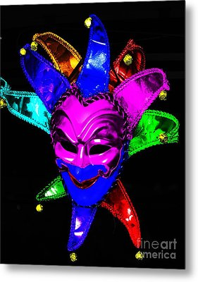 Metal Print featuring the digital art Carnival Mask by Blair Stuart