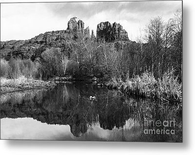 Cathedral Rock Reflections Landscape Metal Print by Darcy Michaelchuk