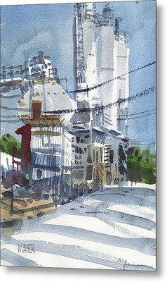 Cement Hopper Metal Print by Donald Maier