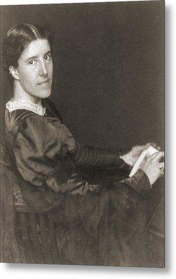 Charlote Perkins Gilman 1860-1935 Metal Print by Everett