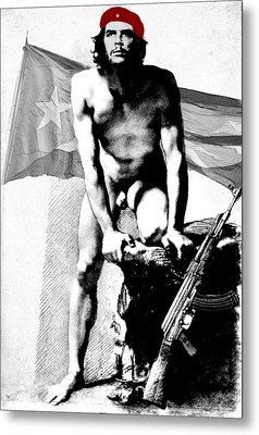 Che Guevara Nude Metal Print by Karine Percheron-Daniels