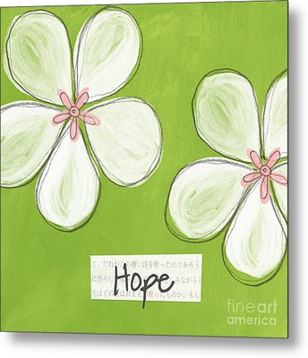 Cherry Blossom Hope Metal Print by Linda Woods