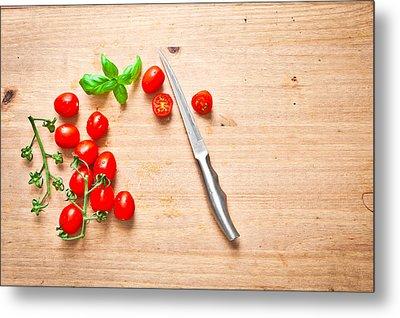 Cherry Tomatoes Metal Print by Tom Gowanlock