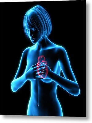 Chest Pains Metal Print by Roger Harris