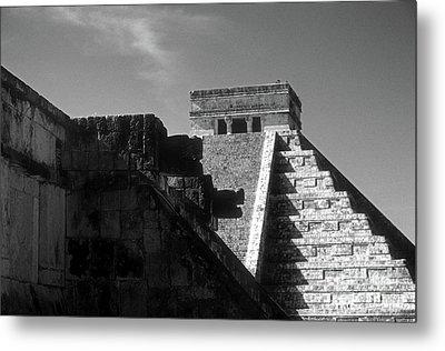Chichen Itza Ruins Yucatan Mexico Metal Print by John  Mitchell