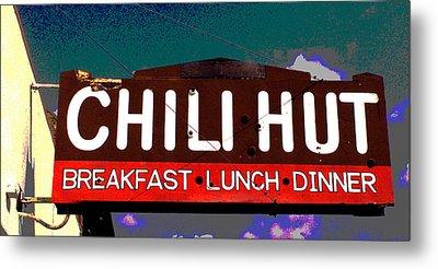 Chili Hut Metal Print by Ron Regalado