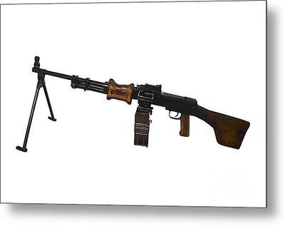 Chinese Type 56 Light Machine Gun Metal Print by Andrew Chittock