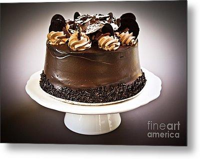 Chocolate Cake Metal Print by Elena Elisseeva