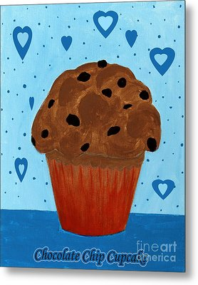 Chocolate Chip Cupcake Metal Print by Barbara Griffin