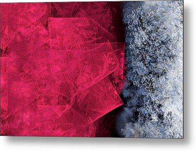 Christmas Frost Metal Print by Christopher Gaston