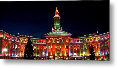 Christmas In Denver Metal Print by Phyllis Britton
