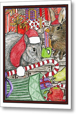 Christmas Treats Metal Print by Marla Saville
