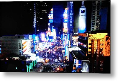 City Lights Metal Print by Val Oconnor