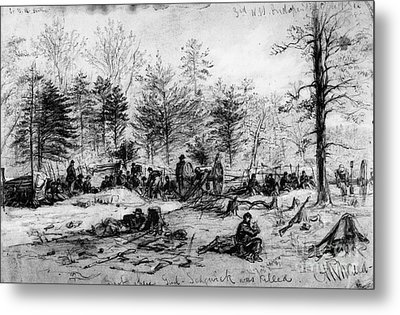 Civil War: Spotsylvania Metal Print by Granger