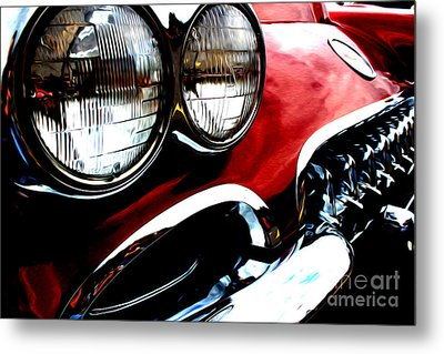 Metal Print featuring the digital art Classic Vette by Tony Cooper