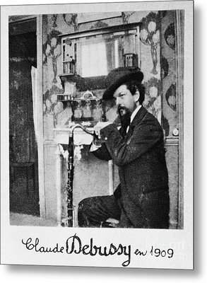 Claude Debussy, French Composer Metal Print