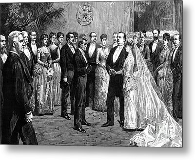 Cleveland Wedding, 1886 Metal Print by Granger