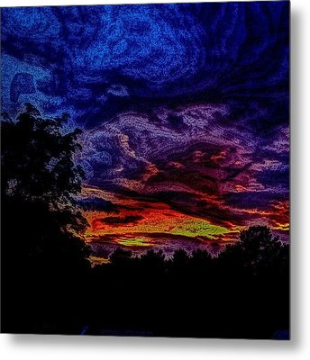Cloudy Night Metal Print by Austin Engel