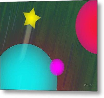 Cmyk Spheres Metal Print by Xueling Zou