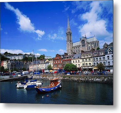 Cobh Cathedral & Harbour, Co Cork Metal Print by The Irish Image Collection