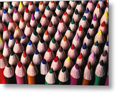 Colored Pencils Metal Print by Garry Gay